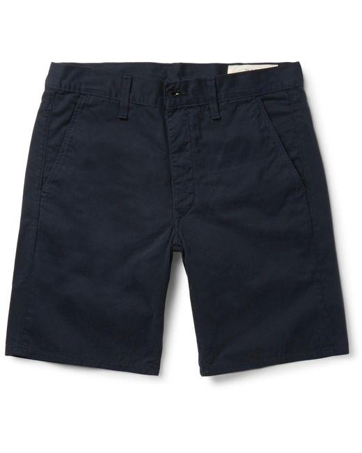 Rag & Bone - Blue Standard Issue Cotton-twill Shorts for Men - Lyst