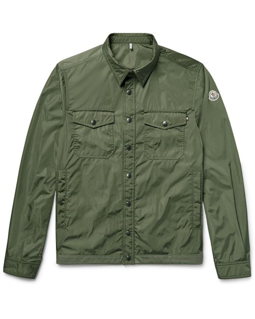 Moncler | Green Triomphe Cotton-trimmed Nylon Shirt Jacket for Men | Lyst