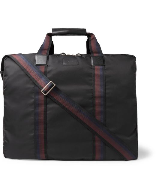 Paul Smith   Black Leather-trimmed Shell Suit Carrier for Men   Lyst