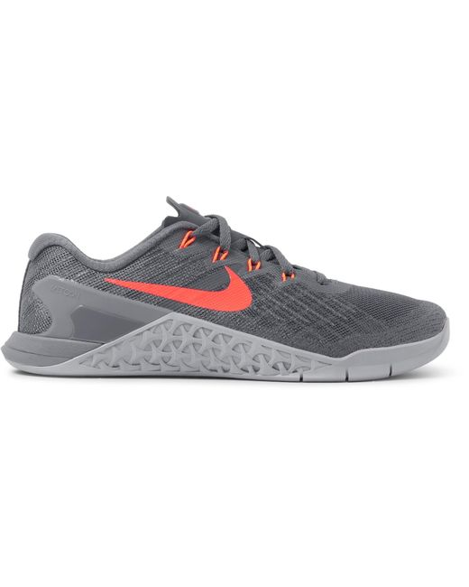 Nike | Gray Metcon 3 Mesh And Rubber Sneakers for Men | Lyst