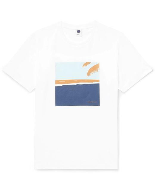 NN07 - White Mason Printed Cotton-jersey T-shirt for Men - Lyst