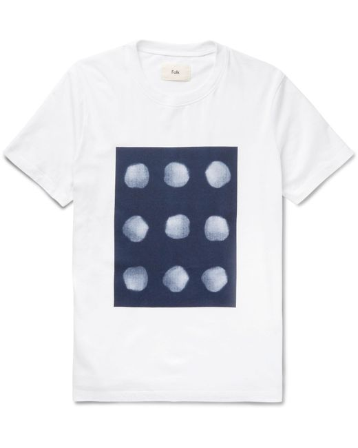 Folk | White Printed Cotton-jersey T-shirt for Men | Lyst