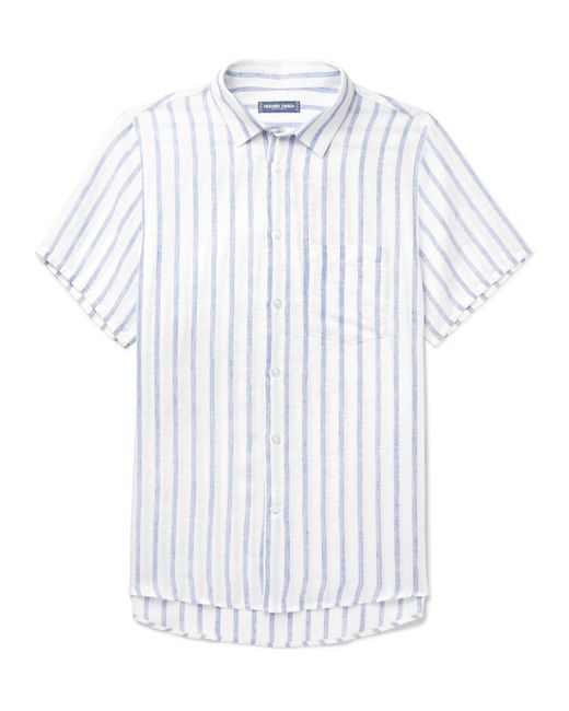 Frescobol Carioca - Blue Striped Linen Shirt for Men - Lyst