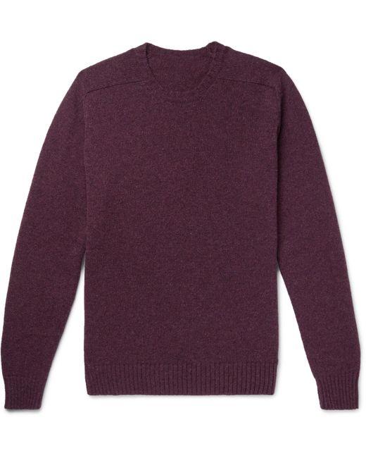 Anderson & Sheppard   Purple Shetland Wool Sweater for Men   Lyst