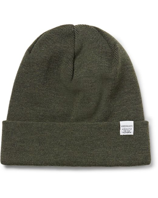 Norse Projects | Green Merino Wool Beanie for Men | Lyst