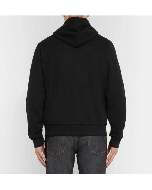 551703ffd ... Polo Ralph Lauren - Black Jersey Zip-up Hoodie for Men - Lyst ...