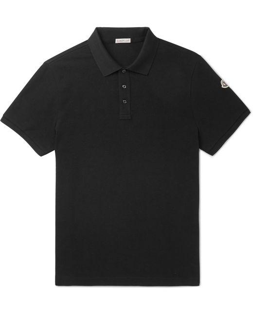 4a226807e334 Lyst - Moncler Cotton-piqué Polo Shirt in Black for Men