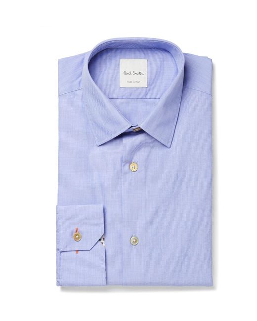 Paul Smith | Blue Soho Slim-fit End-on-end Cotton Shirt for Men | Lyst