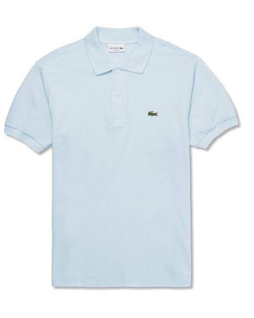 Lacoste - Blue Cotton-piqué Polo Shirt for Men - Lyst