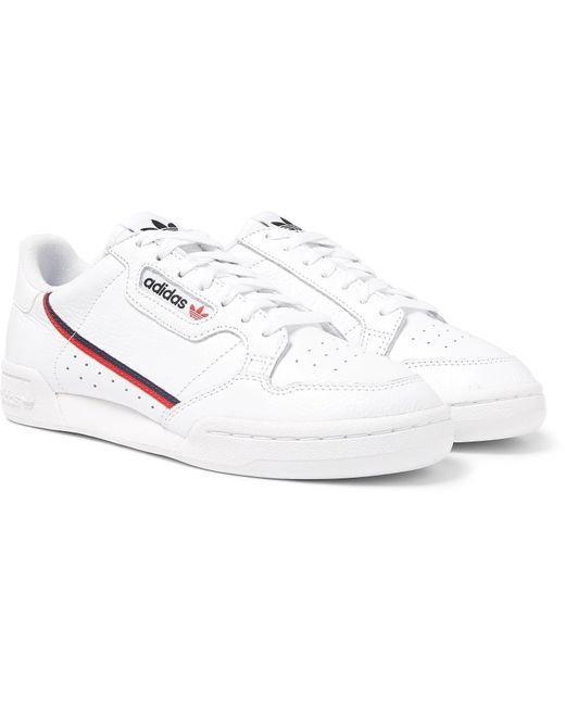 def3c90893544 adidas Originals. Men s White Continental 80 Grosgrain-trimmed Leather  Sneakers
