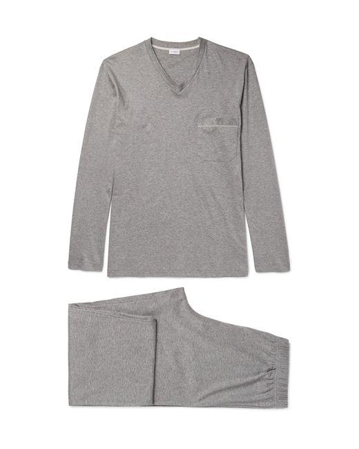 Zimmerli - Gray Mélange Mercerised Cotton-jersey Pyjama Set for Men - Lyst