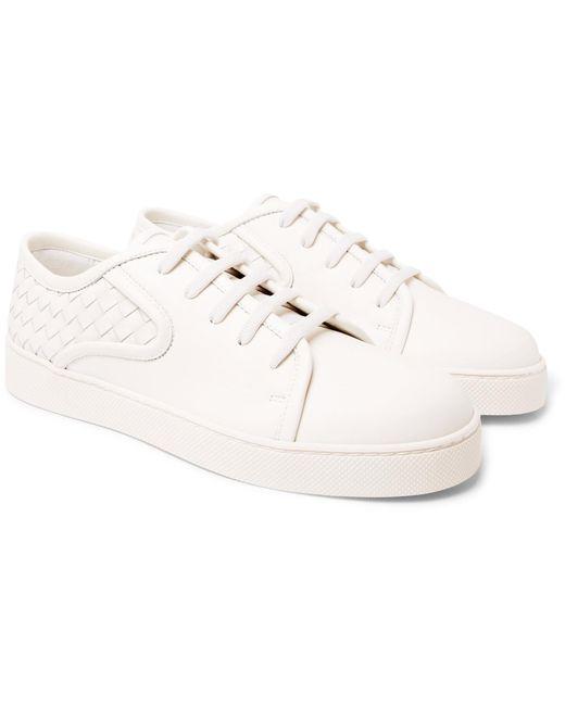 Bottega Veneta   White Dodger Intrecciato Leather Sneakers for Men   Lyst