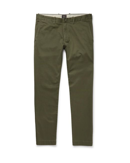 J.Crew | Green Stretch-cotton Twill Chinos for Men | Lyst