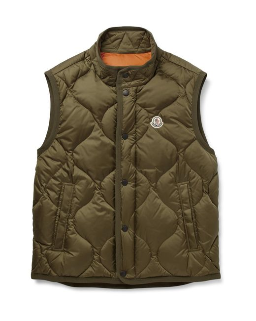 Moncler | Green Canut Quilted Shell Down Gilet for Men | Lyst