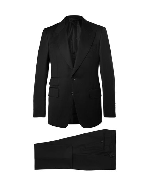 Tom Ford - Icon Black Shelton Slim-fit Grain De Poudre Wool-blend Suit for Men - Lyst