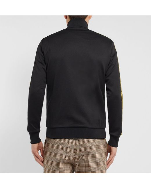 4479c74e stella-mccartney-black-Webbing-trimmed-Embroidered-Tech-jersey-Track-Jacket.jpeg