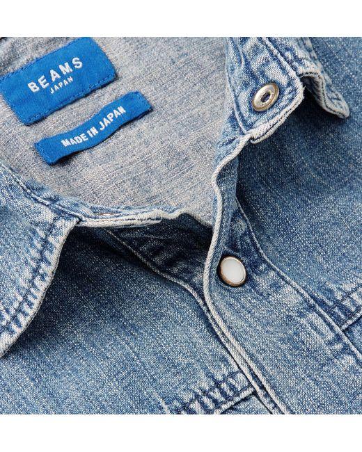 a5edbf22a64 ... Beams Plus - Blue Washed-denim Shirt for Men - Lyst