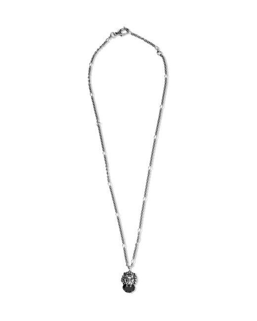 Gucci   Metallic Burnished Silver-tone Swarovski Crystal Necklace for Men   Lyst