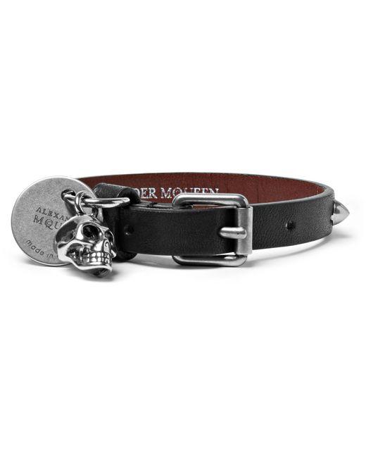 Alexander McQueen | Black Studded Leather Bracelet for Men | Lyst