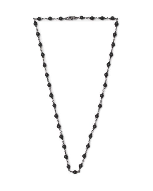 David Yurman - Blackened Sterling Silver Onyx Necklace for Men - Lyst