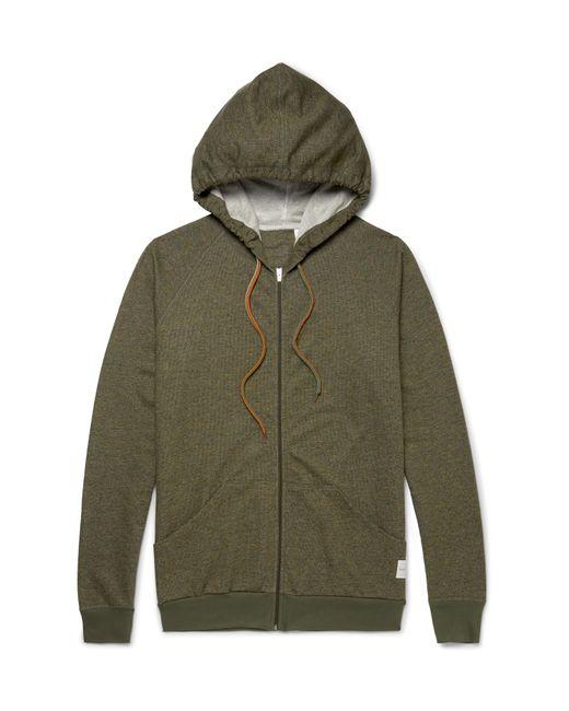 Paul Smith   Green Mélange Cotton-jersey Zip-up Hoodie for Men   Lyst