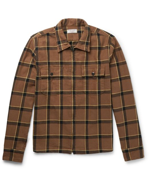 J.Crew | Brown Checked Cotton-flannel Jacket for Men | Lyst