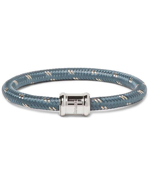 Miansai | Blue Single Casing Cord Stainless Steel Bracelet for Men | Lyst