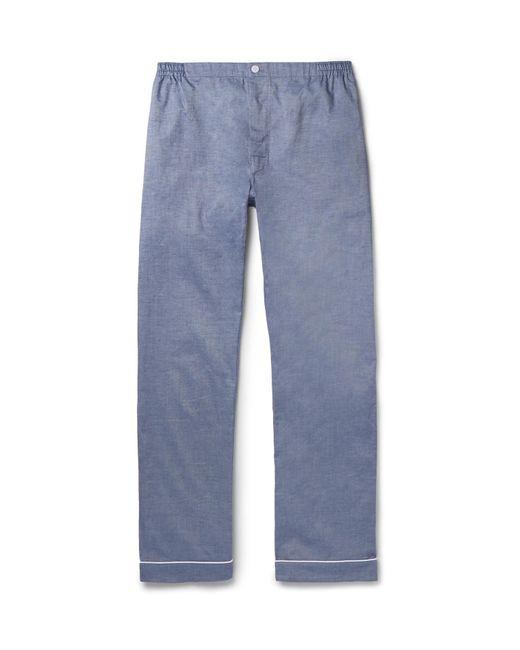 Sleepy Jones | Blue Marcel Mercerised Cotton Pyjama Trousers for Men | Lyst