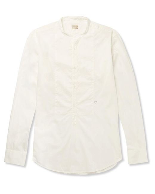 Massimo Alba | White Kos Grandad-collar Cotton Shirt for Men | Lyst