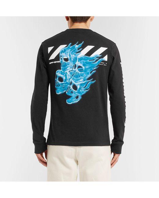 4f6d9ae9923023 Off-White c o Virgil Abloh Logo-print Cotton-jersey T-shirt in Black ...
