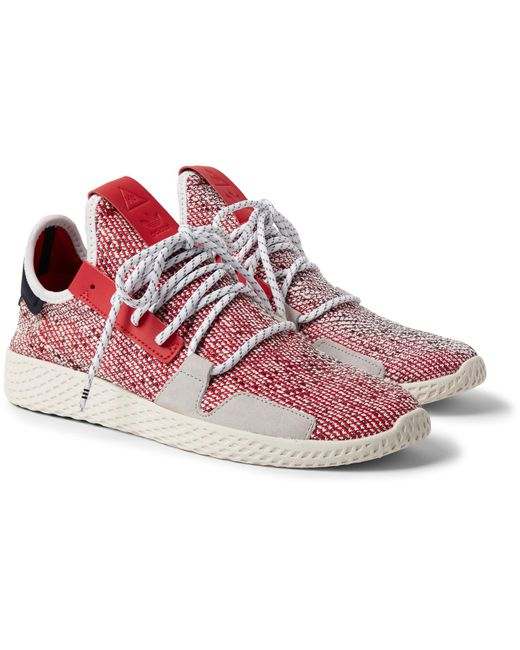 online store d98b1 1c94f Adidas Originals - Red + Pharrell Williams Solarhu V2 Primeknit Sneakers  for Men - Lyst ...