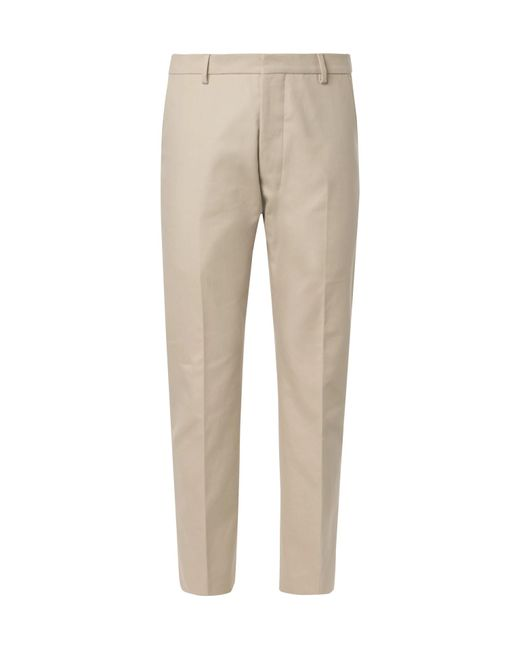 Discount Eastbay Beige Cotton-twill Suit Trousers Ami With Credit Card Online KuWjtBL3r