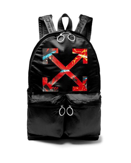 Off-White c/o Virgil Abloh - Black Arrow Nylon Backpack for Men - Lyst