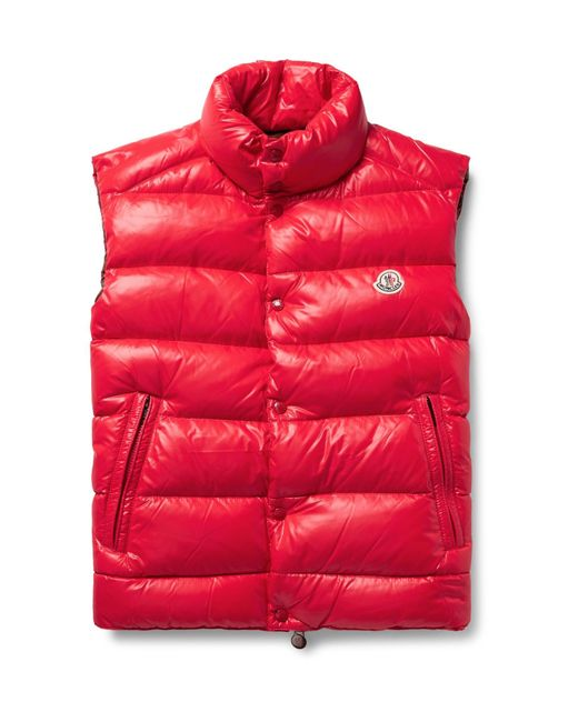 Moncler | Red Tib Quilted Shell Down Gilet for Men | Lyst
