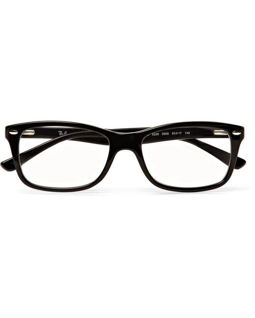 c477d4b6d5 Ray-Ban - Black Square-frame Acetate Optical Glasses for Men - Lyst ...