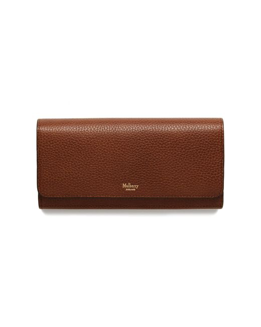 Mulberry - Brown Continental Wallet - Lyst