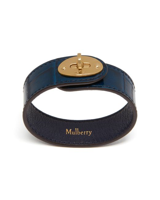 Mulberry | Blue Bayswater Leather Bracelet | Lyst