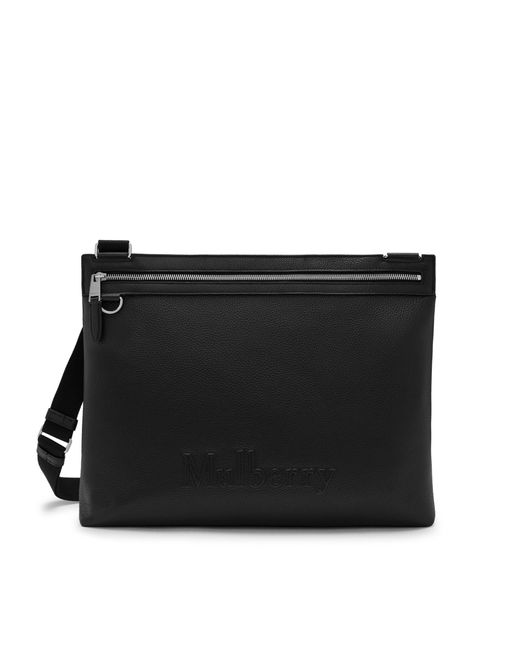 Mulberry - Soft Zipped Messenger In Black Small Classic Grain for Men - Lyst