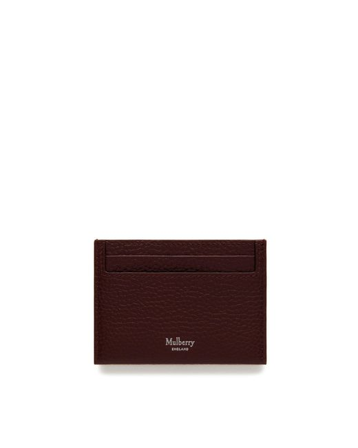 Mulberry - Multicolor Credit Card Slip In Oxblood Natural Grain Leather for Men - Lyst