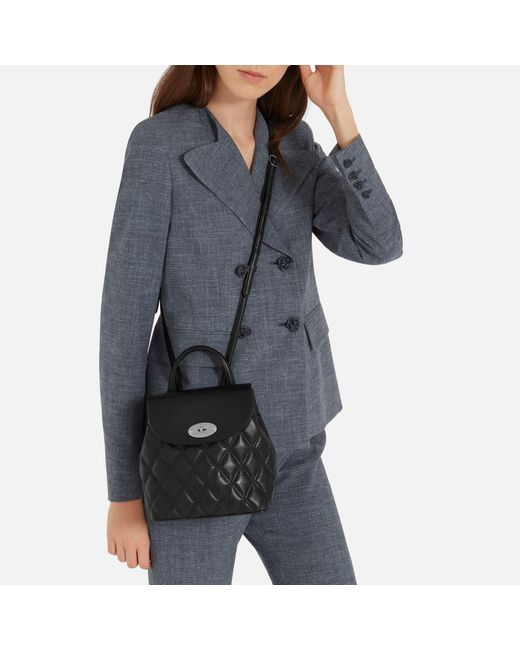 ... norway mulberry black mini bayswater backpack lyst e8838 ef3e9 ... d14af33195