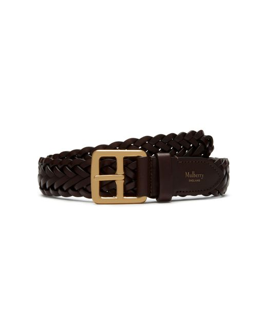 Mulberry - Brown 30mm Boho Buckle Braided Belt for Men - Lyst