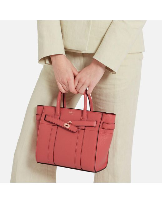 53534c49ba ... small classic grain 6a110 2e281  france mulberry pink mini zipped  bayswater lyst 2df5c fe7d7