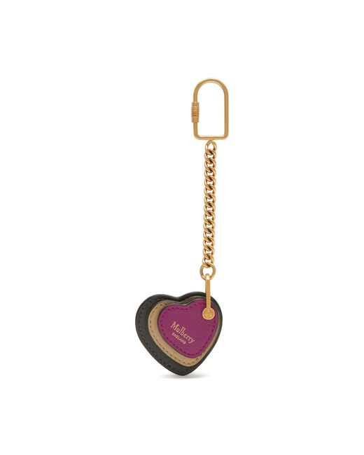 Mulberry | Multicolor Heart Leather Keyring | Lyst