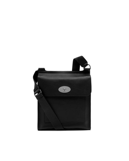 Mulberry - New Antony Messenger In Black Natural Grain Leather for Men - Lyst