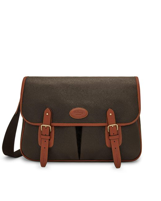Mulberry - Brown Heritage Messenger In Mole And Cognac Scotchgrain for Men - Lyst