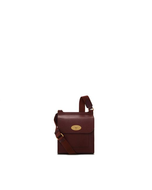 Mulberry - Purple Small Antony In Oxblood Natural Grain Leather for Men - Lyst