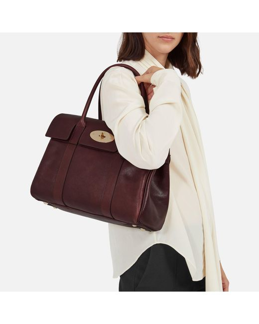 91e327b864 ... store mulberry red bayswater leather bag lyst 22557 36ed9