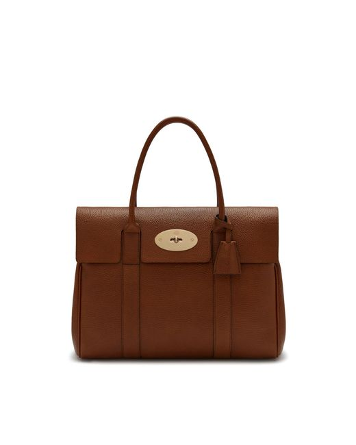 Mulberry - Brown Heritage Bayswater In Oak Natural Grain Leather - Lyst