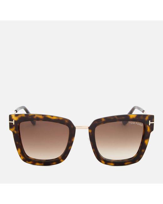 Tom Ford - Brown Lara Square Frame Sunglasses - Lyst