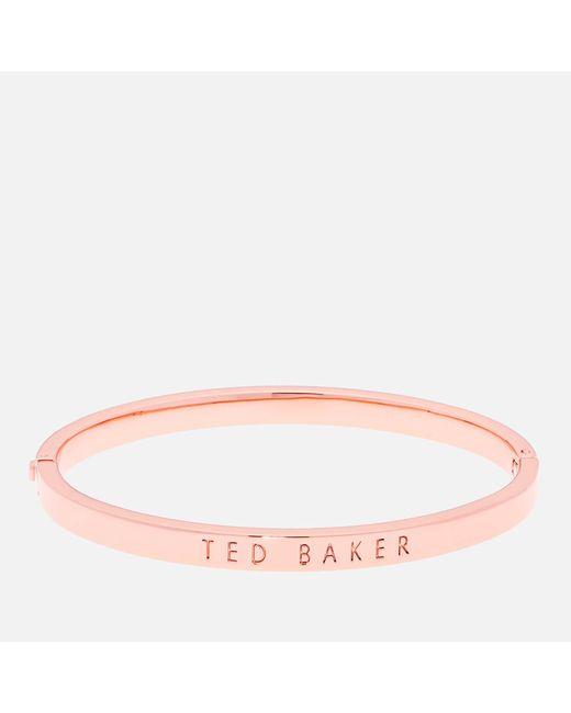 Ted Baker - Multicolor Clemina Hinge Metallic Bangle - Lyst